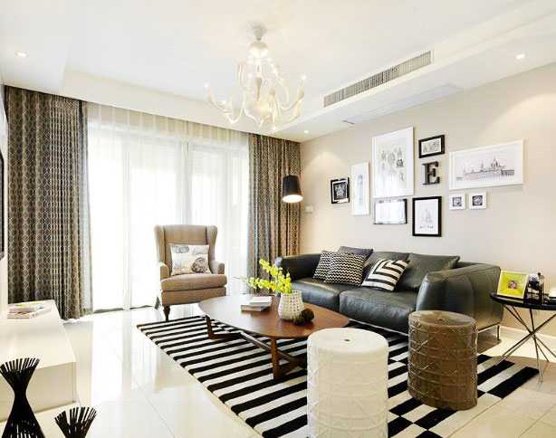 简约 三居 白领 80后 海赋江城 唯美 浪漫 客厅图片来自唯美装饰在103平装出时尚清新品质感的分享
