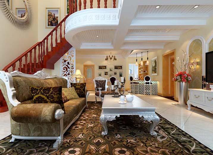 欧式 田园 别墅 白领 80后 小资 客厅图片来自实创装饰百灵在欧式田园184平米通州物资学院的分享