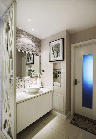 简约 三居 白领 80后 海赋江城 唯美 浪漫 卫生间图片来自唯美装饰在103平装出时尚清新品质感的分享