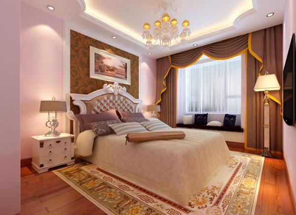 设计理念:卧室是人休息与放松的地方,简约、浪漫、温馨是这个卧室的主题。