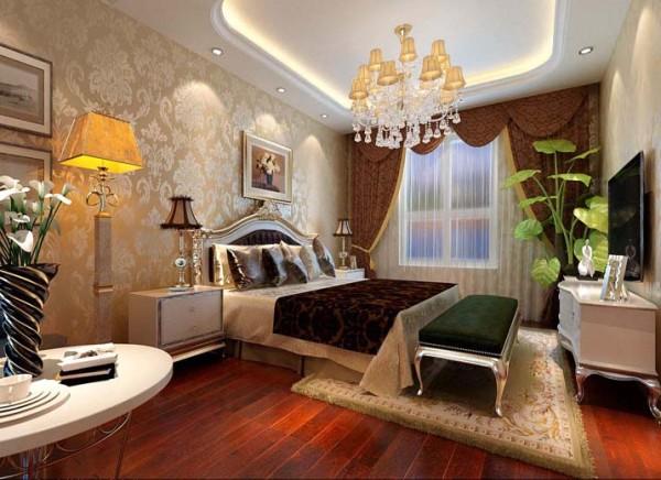 设计理念:卧室是人休息与放松的地方,简约、舒适、温馨是这个卧室的主题。