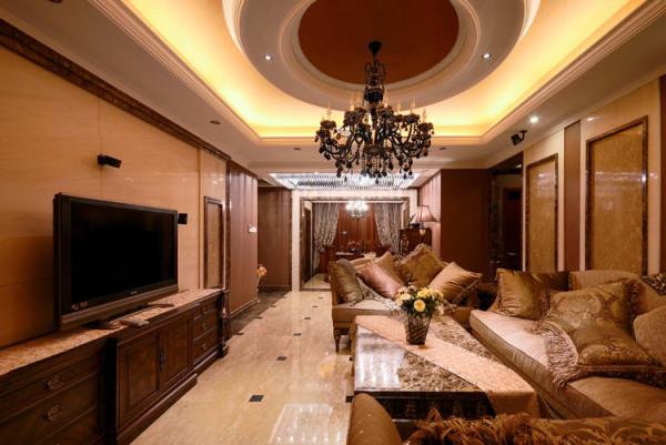 金地朗悦--97平米客厅图