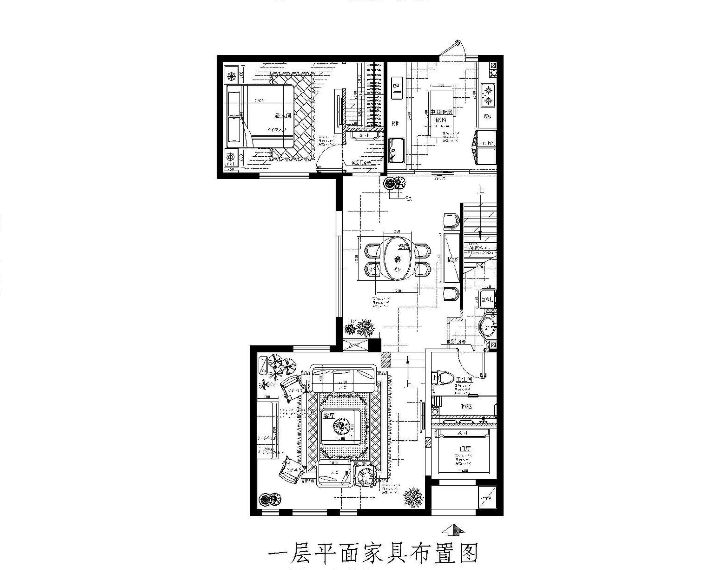 美式风格 别墅装修 精美别墅 美式 欧美风 80后 企业家 旧房改造 实创装饰 户型图图片来自北京实创装饰在250㎡美式别墅装修实际案例的分享