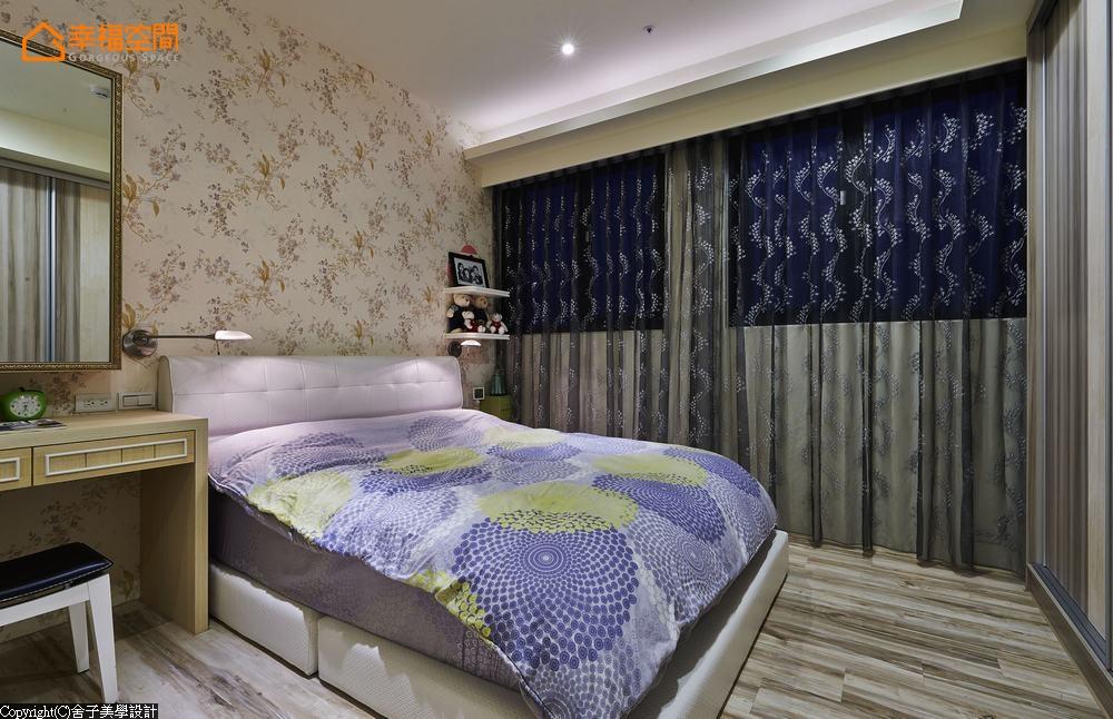 简约 温馨 舒适 乡村 田园 三居 收纳 卧室图片来自幸福空间在106平微乡村舒爽居家 温馨调味的分享