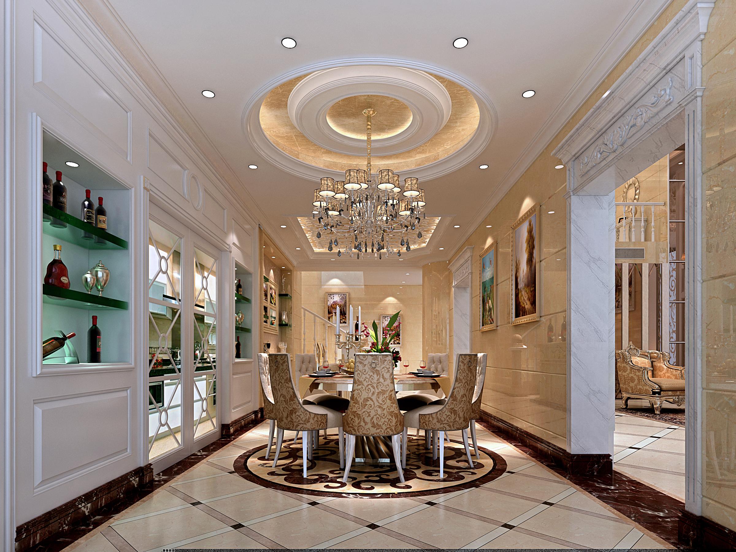 欧式 别墅 典雅 高富帅 三层别墅 餐厅图片来自名雕装饰设计在别墅旧房改造,彰显典雅品味的分享