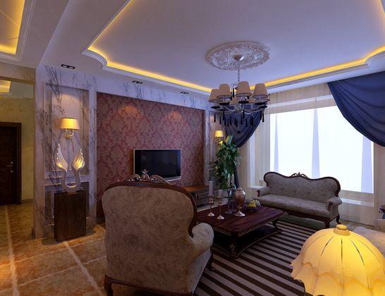 百家装饰 沈阳装修 装饰装修 三居 80后 白领 小资 客厅图片来自装修顾问在美式带有欧罗巴的奢侈与贵气的分享