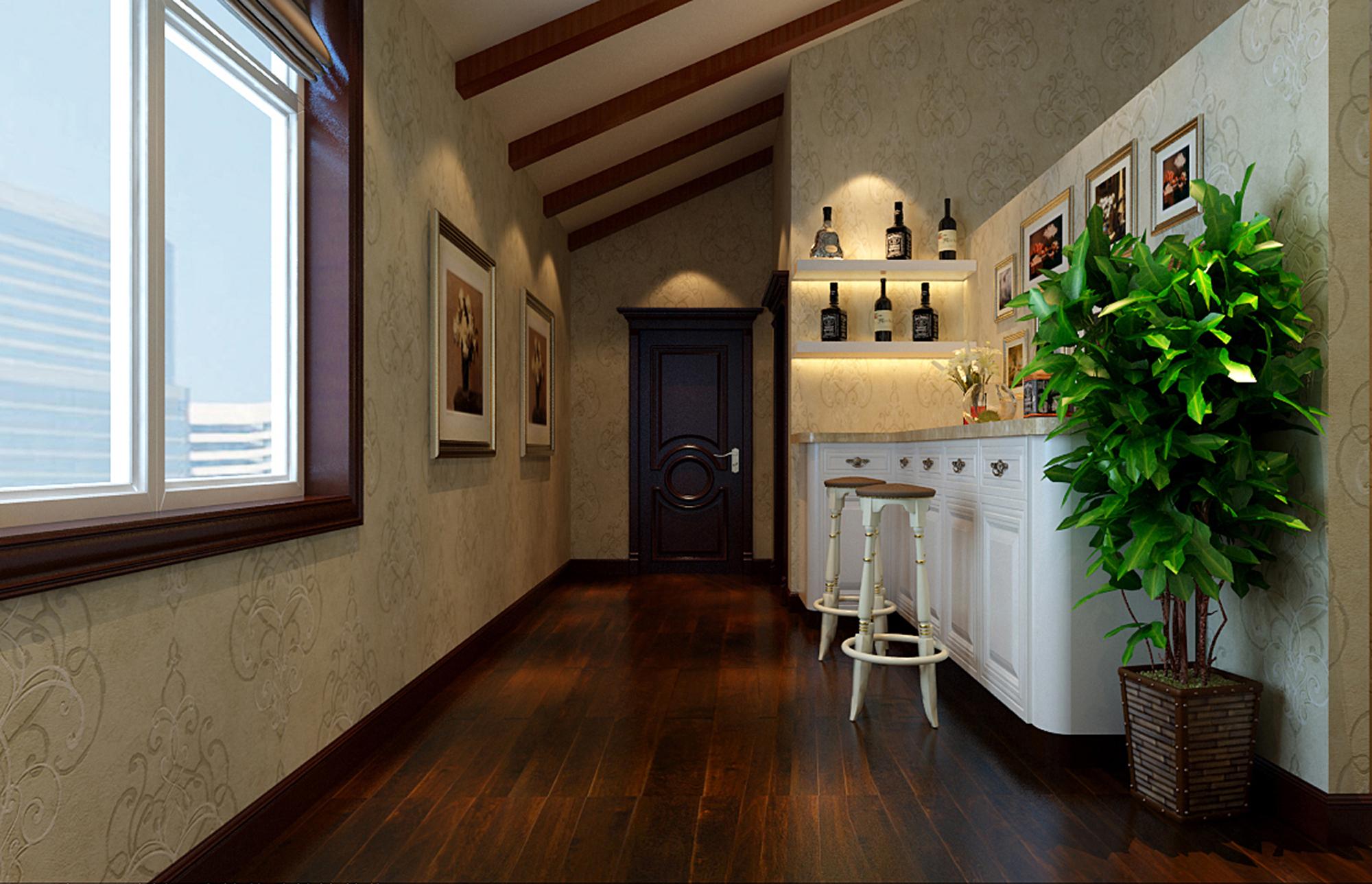 美式风格 别墅装修 精美别墅 美式 欧美风 80后 企业家 旧房改造 实创装饰 玄关图片来自北京实创装饰在250㎡美式别墅装修实际案例的分享