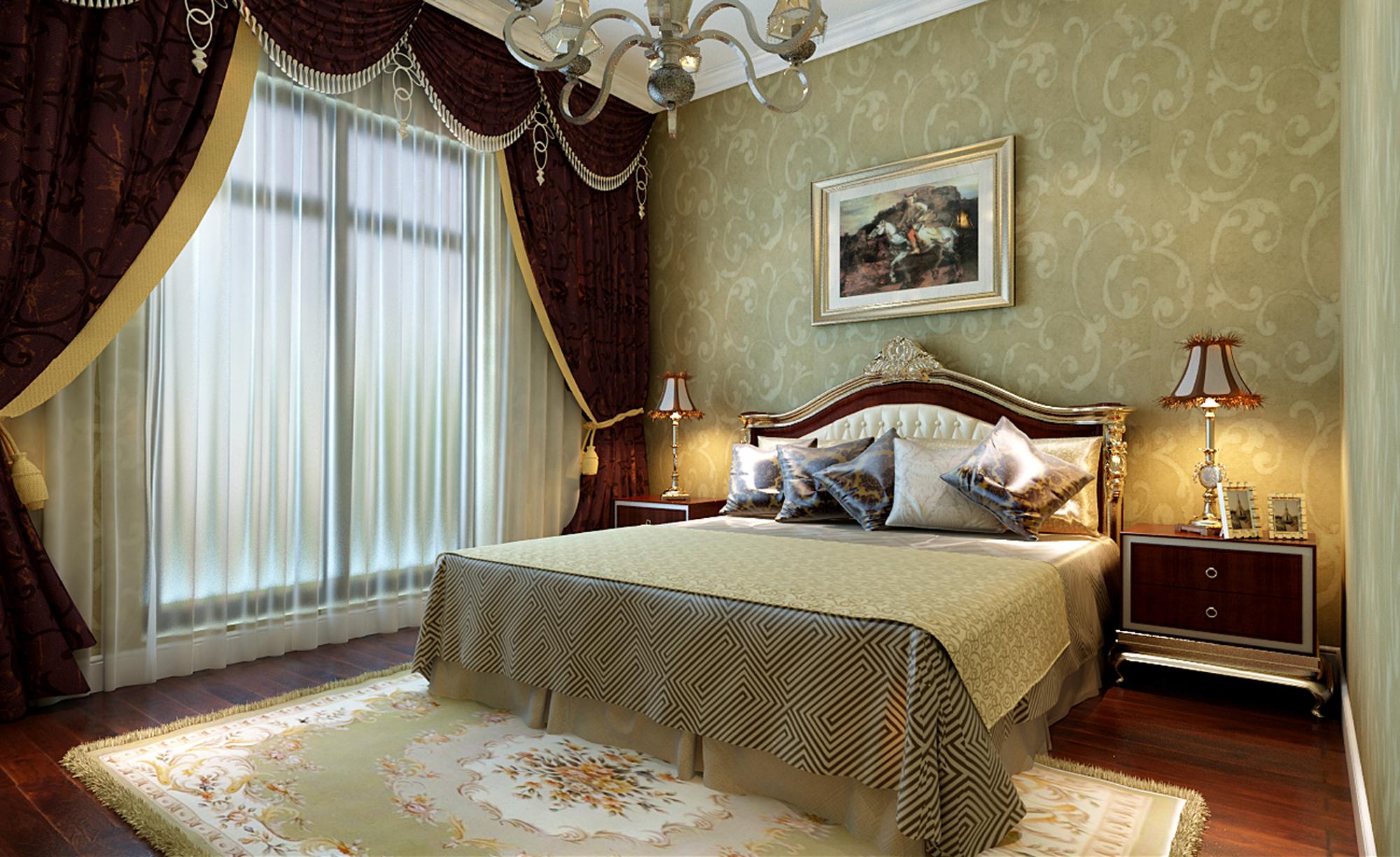 美式风格 别墅装修 精美别墅 美式 欧美风 80后 企业家 旧房改造 实创装饰 卧室图片来自北京实创装饰在250㎡美式别墅装修实际案例的分享