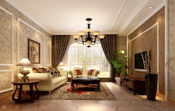 明亮大方的客厅,以浅色调为主,用图案来点缀