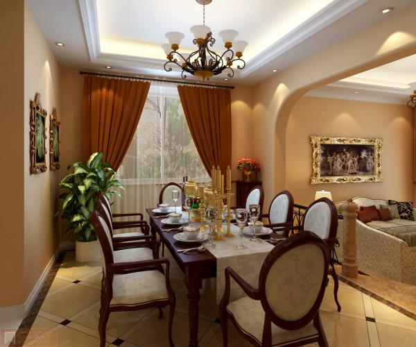 空间里的每个角落都不要遗忘,细节决定成败,吊灯的选择、餐厅桌椅的风格搭配,客厅线条纹理清晰,无不让人倍感舒适