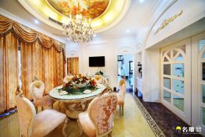 新古典 别墅 巴洛克 低调奢华 白富美 公主屋 名雕装饰 餐厅图片来自名雕装饰设计在550平新古典豪华别墅实景图的分享