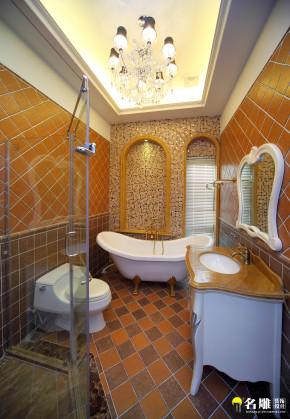 新古典 别墅 巴洛克 低调奢华 白富美 公主屋 名雕装饰 卫生间图片来自名雕装饰设计在550平新古典豪华别墅实景图的分享