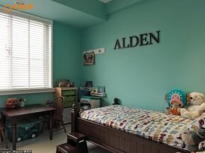 田园 loft 旧房改造 复古 木地板 文艺青年 二居 儿童房图片来自幸福空间在灰绿色loft  140平工业感好文青的分享