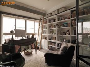 田园 loft 旧房改造 复古 木地板 文艺青年 二居 收纳 书房图片来自幸福空间在灰绿色loft  140平工业感好文青的分享