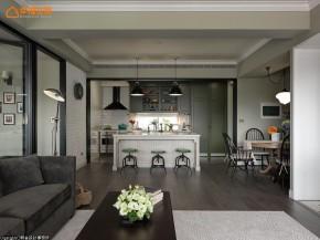田园 loft 旧房改造 复古 木地板 文艺青年 二居 厨房图片来自幸福空间在灰绿色loft  140平工业感好文青的分享