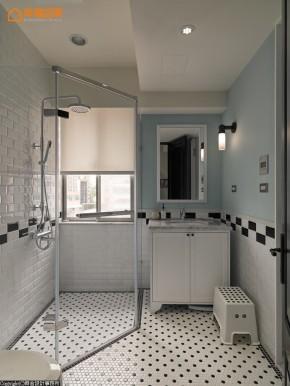 田园 loft 旧房改造 复古 木地板 文艺青年 二居 卫生间图片来自幸福空间在灰绿色loft  140平工业感好文青的分享