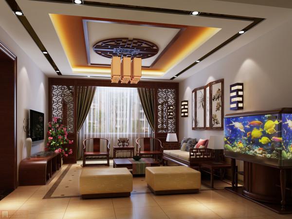 挂饰画做墙面装饰,让客厅格外优雅