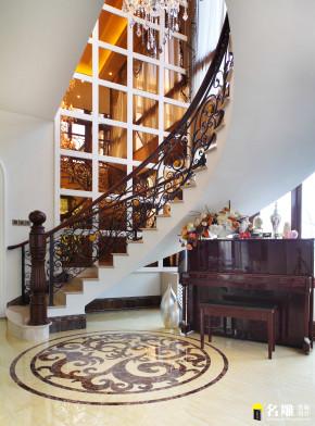 新古典 别墅 巴洛克 低调奢华 白富美 公主屋 名雕装饰 楼梯图片来自名雕装饰设计在550平新古典豪华别墅实景图的分享