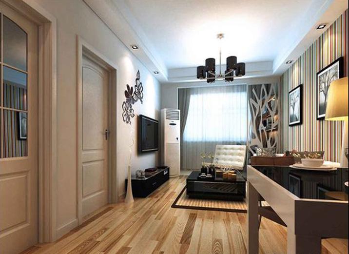 二居 简约 现代 装修效果图 客厅图片来自天津实创装修_装饰在89平简单舒适三口之家公寓的分享