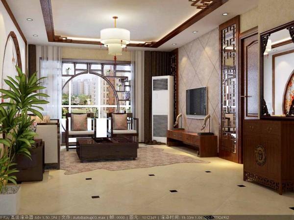 124平米中式风格三居
