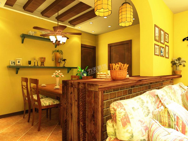 二居 美式乡村 餐厅图片来自阳光力天装饰糖宝在大城赞的分享