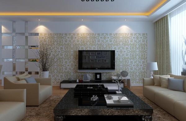 现代风格设计-电视背景墙效果