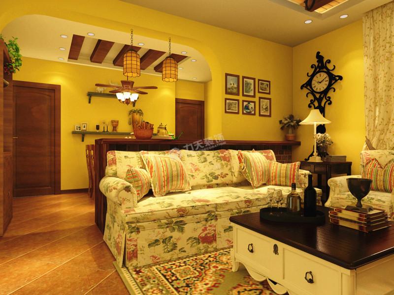 二居 美式乡村 客厅图片来自阳光力天装饰糖宝在大城赞的分享