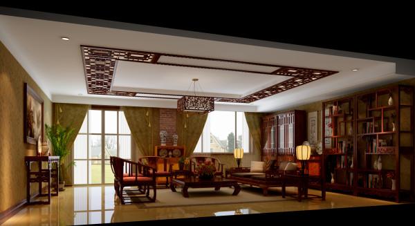 这是设计师单独为家中的老人开辟的新中式风格的休息室,选择了地下一层的楼层,窗外就是庭院,同时很好的满足用户的需求。