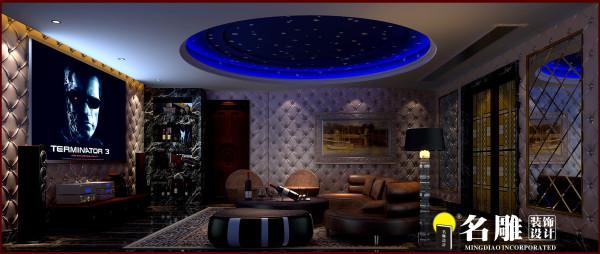 名雕装饰设计:视听室,设计创新感十足。