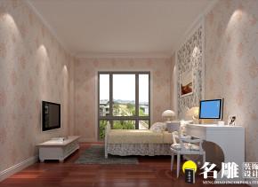 简约 现代 复式 三居 80后 温馨 名雕装饰 公主房 卧室图片来自名雕装饰设计在丽水佳园238平现代简约温馨家庭的分享