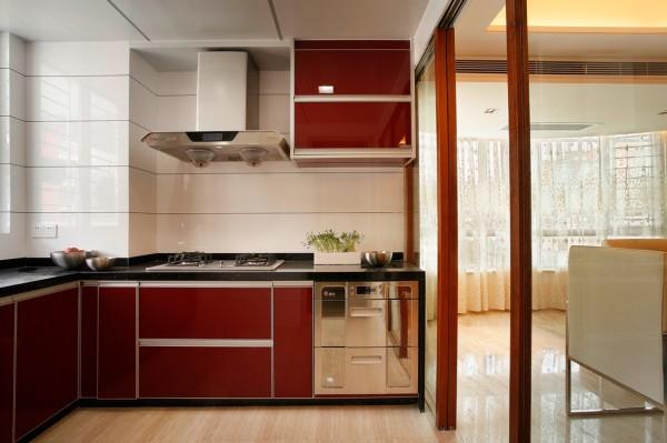 西山壹号院 厨房 橱柜 抽油烟机