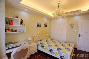 欧式 三居 80后 高富帅 欧式豪华 名雕装饰 儿童房图片来自名雕装饰设计在198平欧式风格,豪华精致生活的分享
