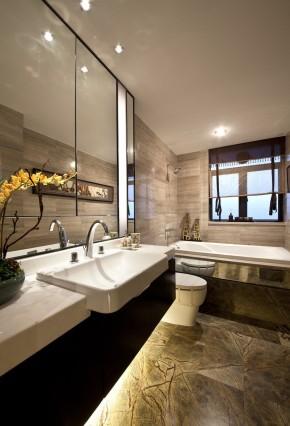 中式 别墅 万科高尔夫 别墅装修 舒适 卫生间图片来自武汉实创装饰在中式鸟语花香的分享