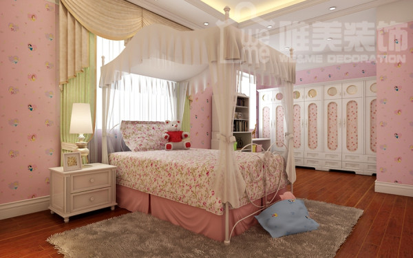 童趣盎然的小碎花田园风格的儿童房,让孩子拥有公主童年