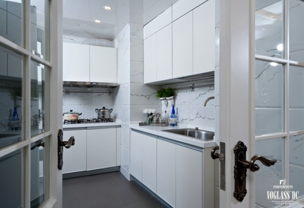 观澜国际 200平米 新古典 厨房设计