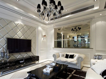 银色的优雅 奢华新古典跃层大户