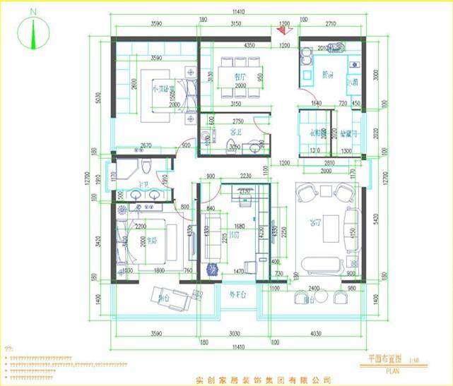 欧式 四居 别墅 白领 小资 户型图图片来自北京实创装饰集团在密云160平欧式经典4居-雍容华贵的分享