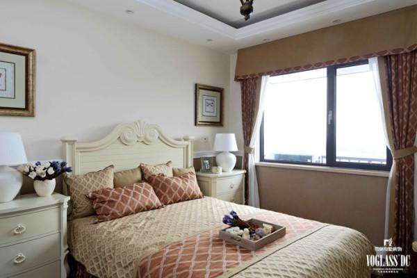 山语城  208平米 美式乡村  卧室设计