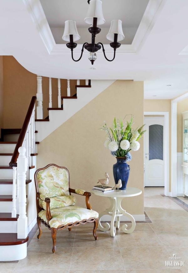 山语城  208平米 美式乡村 楼梯设计