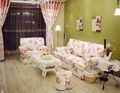 田园 二居 小资 成都装修 客厅图片来自香港古兰装饰-成都在田园风格家装的分享