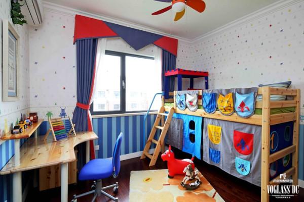 山语城  208平米 美式乡村  儿童房设计