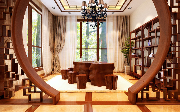 设计理念:顺畅和舒适,似乎是每一个家都应该具备的品质,在地一层的空间,设计师将它设计成为了一个功能强大的休闲娱乐空间,