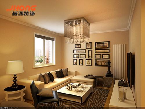 房子的主人是一对年轻夫妇,整体设计上以淡雅的暖色调为主,整个客厅的空间给人以开放、宽容的非凡气度,让人丝毫不显局促。