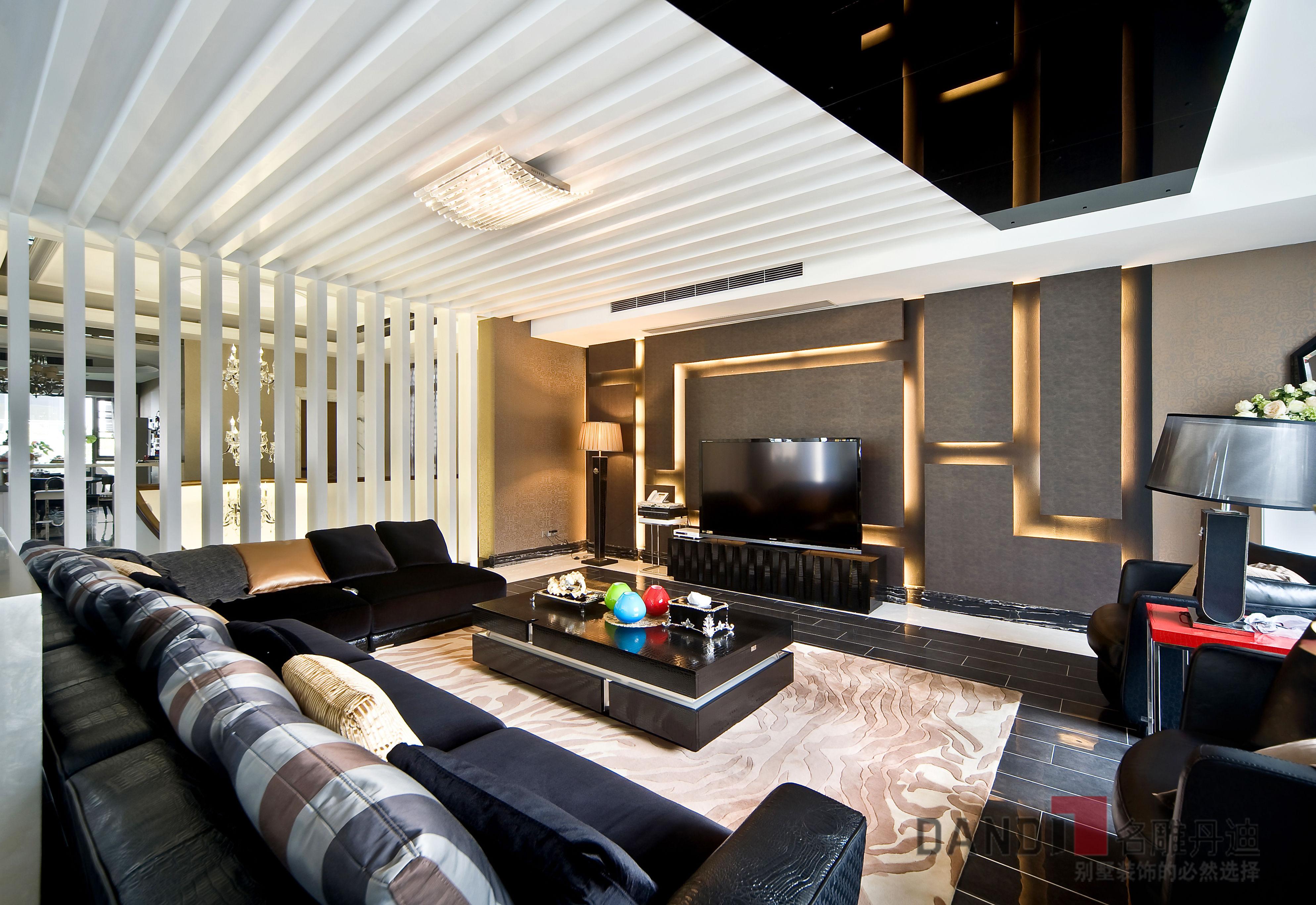 别墅 现代 现代奢华 高富帅 白富美 时尚 名雕丹迪 别墅装修 客厅图片来自名雕丹迪在1000平现代奢华高品位多功能别墅的分享