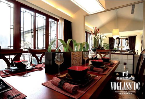 燕西华府 300平米  新中式风格 餐厅设计