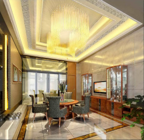 新古典 别墅 典雅华贵 高富帅 名雕装饰 名雕设计 餐厅图片来自名雕丹迪在600平新古典典雅华贵私人会所的分享