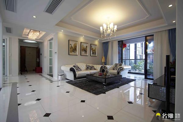 名雕装饰设计——客厅:一抹素白,绵延纯净的简爱,淡若馨香,轻如细流,将浪漫微微散发在家的每个角落。