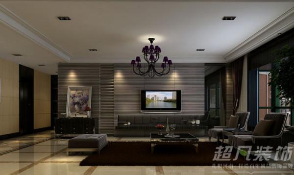 新蓝钻装修效果图/客厅电视背景墙装修效果图/后现代风格效果图