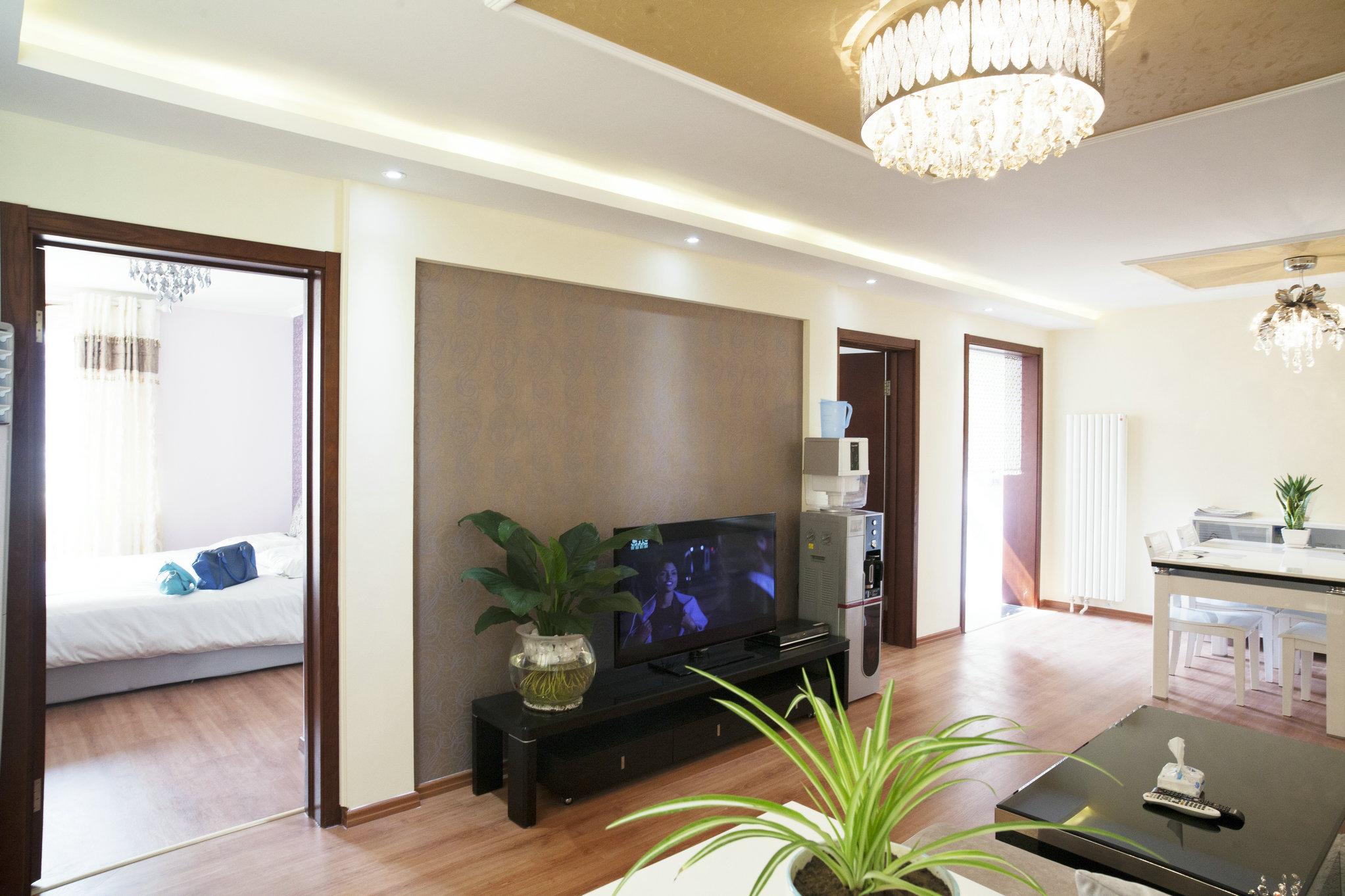 二居 现代 婚房 老房翻新 芍药居北里 客厅图片来自xushuguang1983在简洁现代86平米实景两居婚房的分享