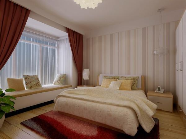 卧室则使用了暖气的地板,在配上床头背景,不仅延伸了视觉空间而且增添了温馨的感觉。简约而不简单,整个空间都设计得恰到好处。